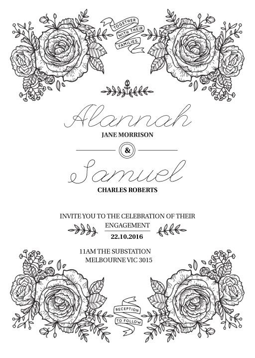 Botanic - Engagement Invitations #paperlust #engagement #engagementinvitation #invitation #engagementcards #engagementinspiration #weddings