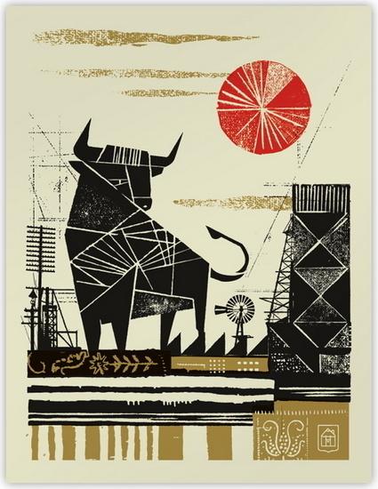 Bull by Curtis Jinkins #illustration #bull