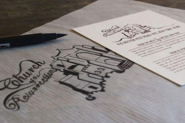 Gina & Bryan's Wedding Invites - Katie Steward's Portfolio #wedding #design #invitations #illustration #drawn #type #hand