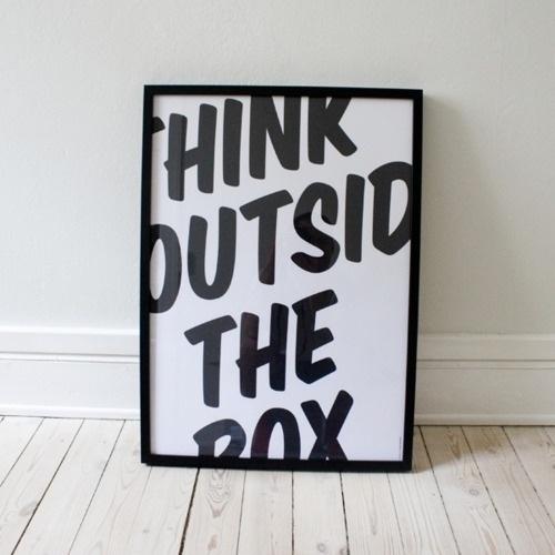 Typeverything.com 'Think' by Thomas Braestrup. - Typeverything #print #poster #typography