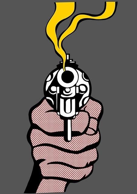 g u n | Flickr - Photo Sharing! #jessewright #gun #photoshop #lichtenstein