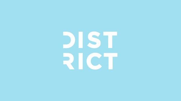 District Branding, by Creature #inspiration #creative #branding #design #graphic #logo #district #blue