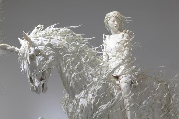 Stunning Sculptures by Odani Motohiko (3 pics) My Modern Metropolis #horse #white #woman #art