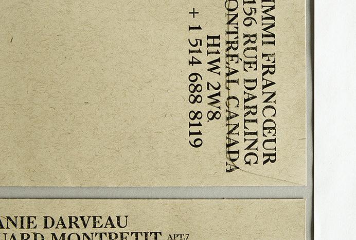 Jimmi Francoeur | AesseVisualJournal. #branding #envelope #identity #stationery #type #layout