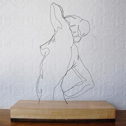 Gavin Worth's Wire Sculptures | Yatzer #form #sculpture #worth #gavin #wire #female