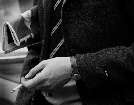 JJJJound #cigarrete #white #watch #black #and
