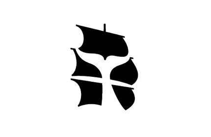New Bedford Whaling Museum logo design #logo #negative space #tail #sails
