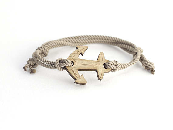 Anchor Kemono #bracelet #anchor - #wood edition #present #product #jewel