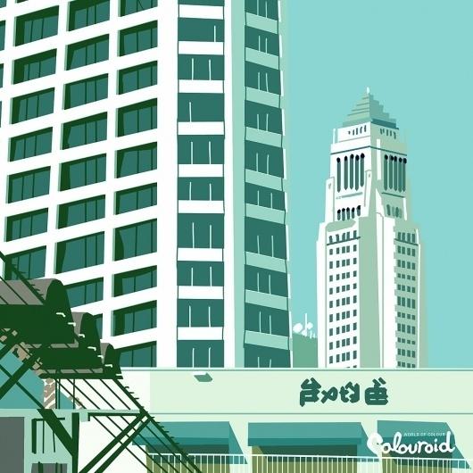 tumblr_lx9d8swGls1r9626to1_1280.jpg 1.000×1.000 pixels #city #photo #illustration #color