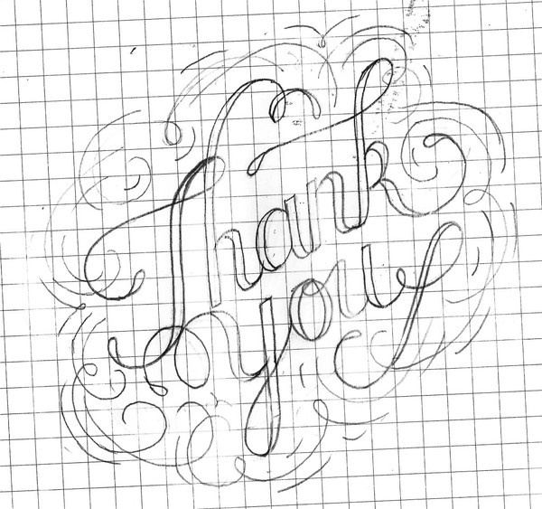 sketch_03_desat #rivera #lettering #days #you #filigree #of #micah #thank #100 #hand #typography