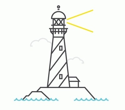 Always With Honor #illustration #line #lighthouse
