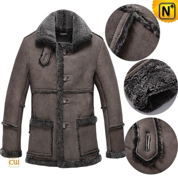 Vintage Sheepskin Coat Mens CW878258 #sheepskin #vintage #coat