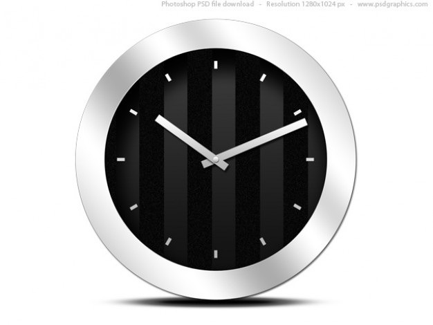Modern black clock icon (psd) Free Psd. See more inspiration related to Icon, Template, Office, Clock, Black, Photoshop, Modern, Psd, Office icon, Clock icon, Blank and Horizontal on Freepik.