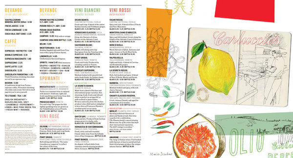 Carluccio's Summer Menu 2011 | Irving #illustration #menu