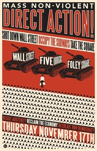 November 17th Day of Action | OccupyWallSt.org #protest #occupy #tanks #wall #poster #street