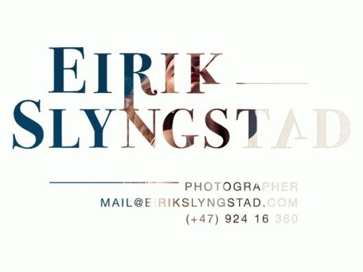 Eirik Slyngstad #logo #gif #typography
