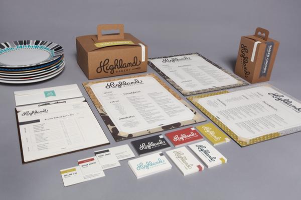 Highland Bakery on Behance #printed #menu #goods #stationary
