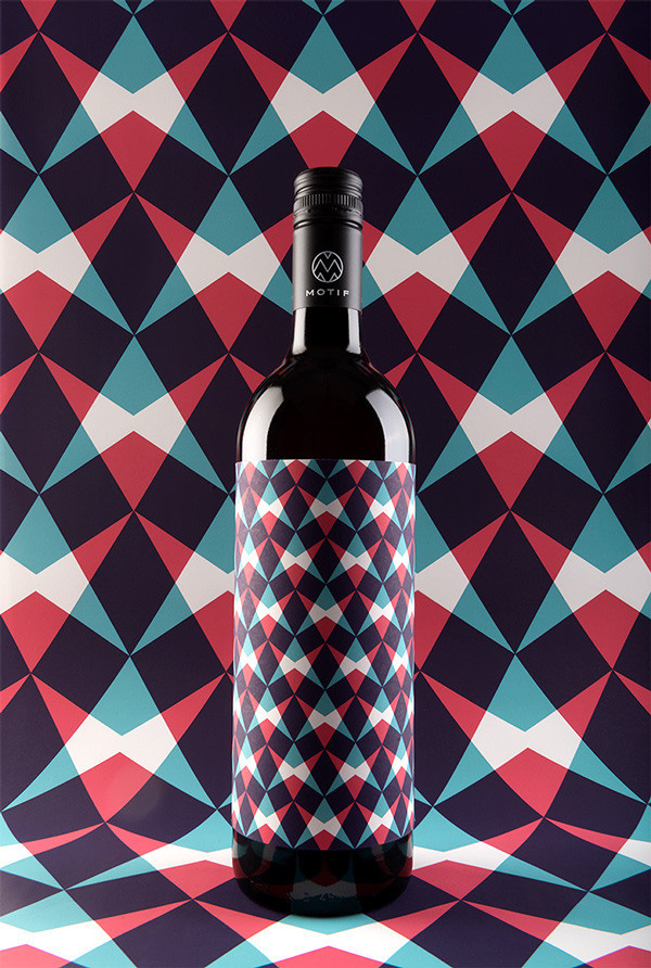 MOTIF Fine Art Wine on Packaging Design Served #bottle #packaging #colours #wine #great
