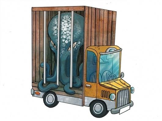 Illustration - outofoffice #monster #illustration #fun #circus
