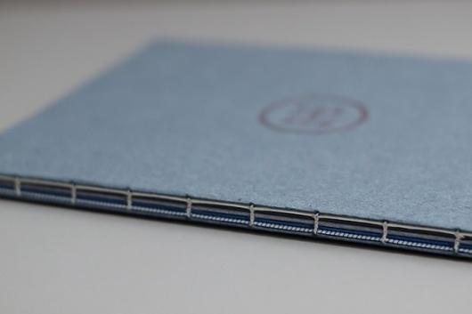 BLEU MARIN on the Behance Network #binding #coptic #book #marin #poetry #bleu #blue #stitch
