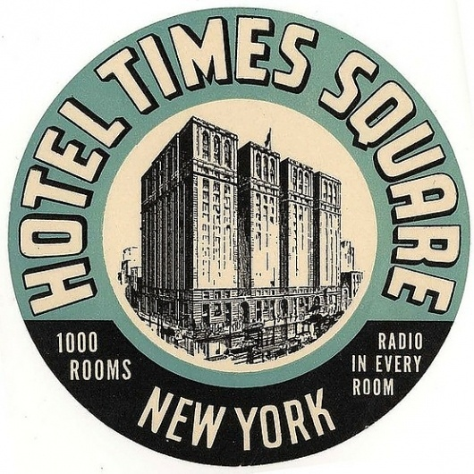 Typography / hotel times square new york #hotel #times #label