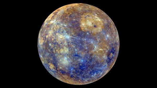 Mercury #blue #yellow #planet