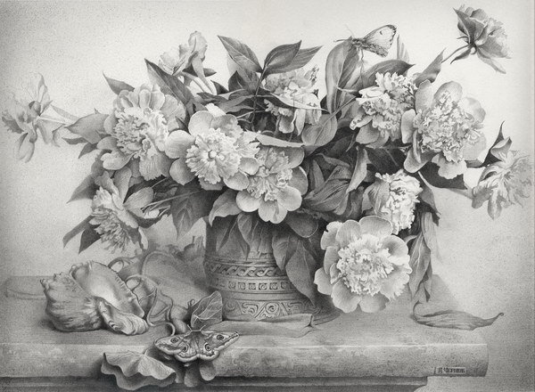 30 Beautiful Flower Drawings #flower #drawings