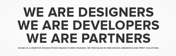 We-are-designers-developers-partners #text #title #design #graphic #large #slider