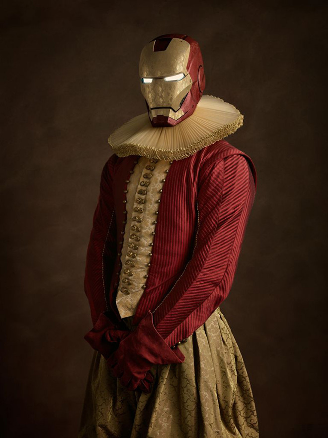 Elizabethan Superheroes #robot #design #iron #illustration #art #marvel #man #elizabethan