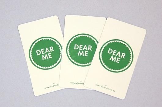 Dear Me Brasserie on the Behance Network #brand #cards #identity #green