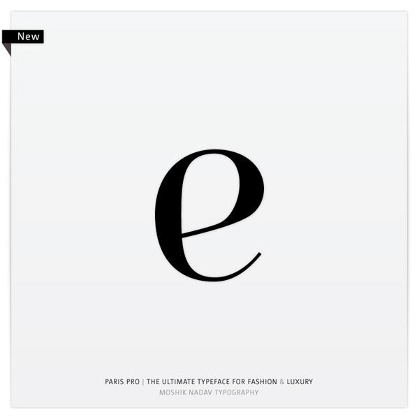 Paris Pro | New Typeface for Fashion by Moshik Nadav on Behance #font #paris #serif #ligatures #moshik #arabesque #typeface #fashion #nadav #pro