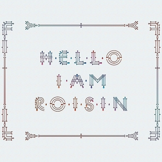 Roisin | Initial caps on the Behance Network #illustration #typography