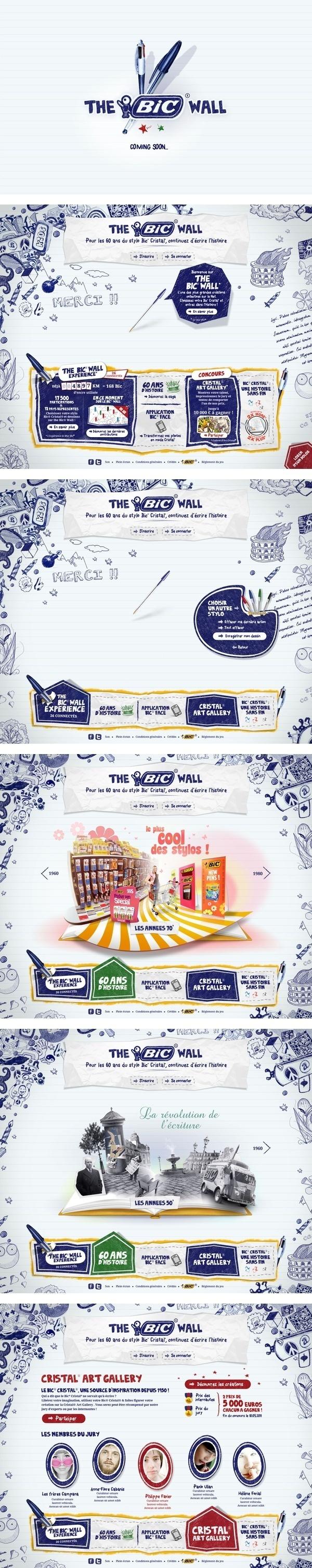 The Bic Wall Branding and Website Design #design #web #branding