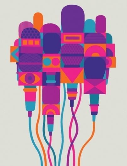 Baubauhaus. #microphone #vector #poster #magenta