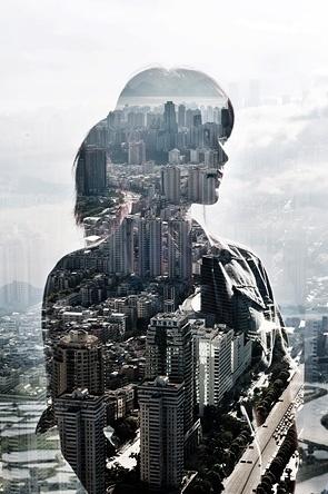 City Silhouettes : JASPER JAMES - PHOTOGRAPHER - BEIJING CHINA (+86) 15910926348 #girl #photo #city #photography #building #double