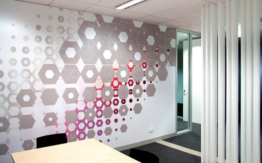 Australian HQ, 3M. Designed by There. @enviromeant.com #graphics #wall