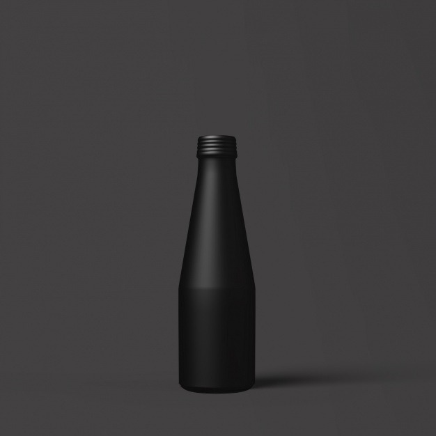 Black bottle template design Free Psd. See more inspiration related to Mockup, Design, Template, Black, Web, Website, Bottle, Mock up, Templates, Website template, Mockups, Up, Web template, Realistic, Real, Web templates, Mock ups, Mock and Ups on Freepik.