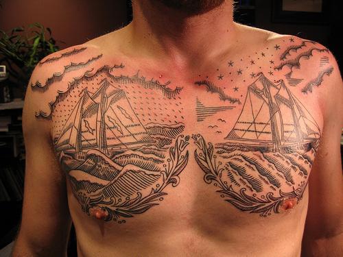 Fuck Yeah, Tattoos. #tattoo #ship #sea