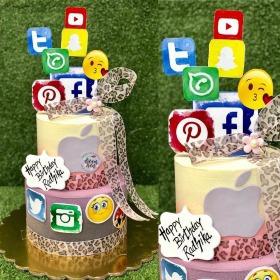 Social Media Birthday Cake