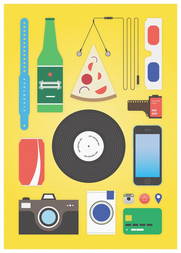 21st century boy #coke #vector #analog #instagram #iphone #illustration #vinyl #minimal #poster #stereotypes #3d