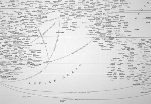 WITH LOVE, FROM JESS #world #word #map #typographic #typography