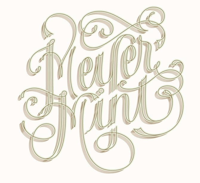 Lettering for Bijou Candles Newsletters #type #illustration #lettering