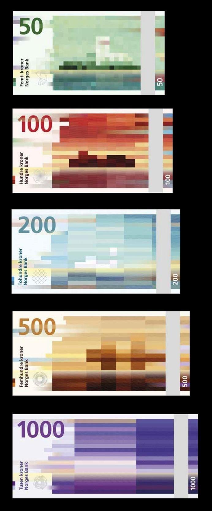 The new norwegian currency design. #design #norwegian #currency