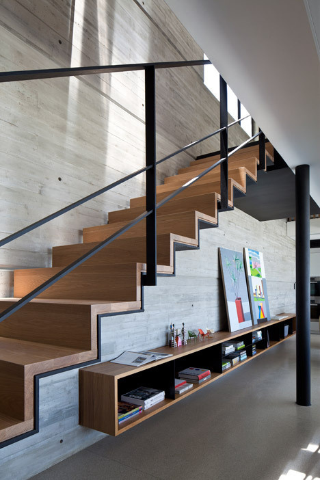 Pitsou Kedem uses raw materials to renovate Y Duplex Penthouse #stairs #architecture
