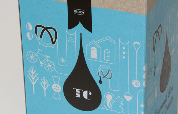 Design Work Life » Meenal Patel: A Tornado of Awesome #packaging #design #graphic #illustration #blue