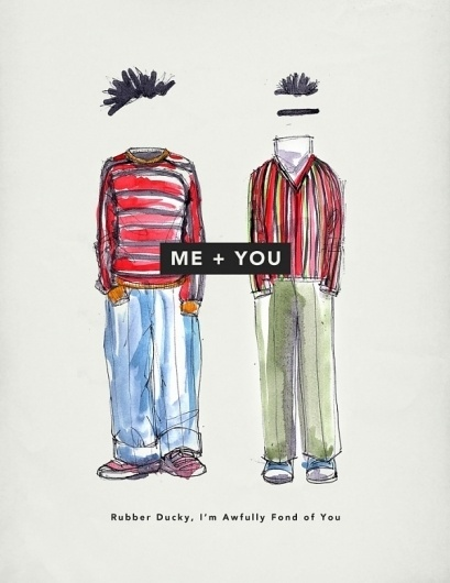 Me + You: Valentine's Day Cards » Everyguyed – Men's Fashion Advice and Style Tips #sesame #water #illustration #street #colour