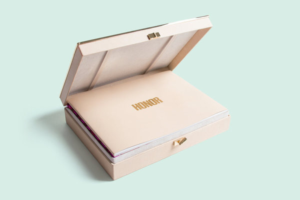 Roandco honor2013cfdabook 04 1299 xxx q85 #stamp #pattern #packaging #print #book #box #gold #package #booklet #foil