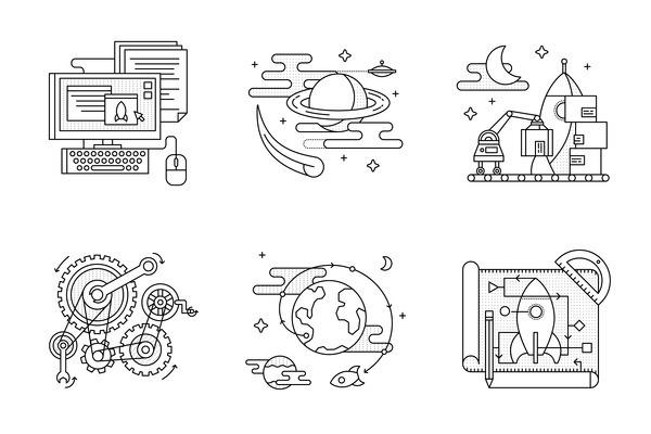 Flask Book Illustrations #flat #vector #print #design #color #illustration