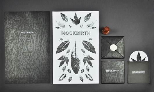 Mockbirth EP on the Behance Network #fold #mockbirt #monoprints #cover #sealed #envelope #wax #package #leaves