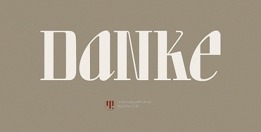 danke | Flickr - Photo Sharing! #type #logotype #branding #logo